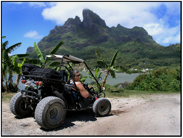 travel - french polynesia - bora bora - dune buggies - d