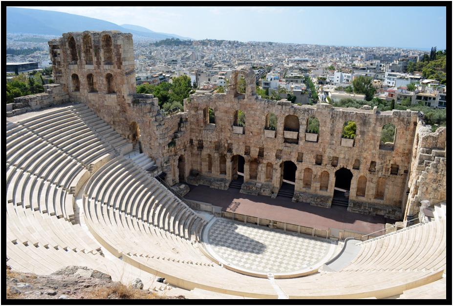 travel - europe - greece - athens - the acropolis - odeon ...