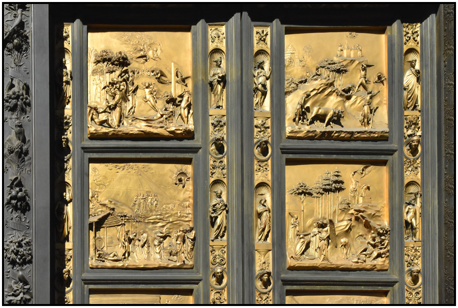 Detail of the doors Baptistry Florence Tuscany Italy 2017. & travel - italy - tuscany - florence - baptistery - d holmes ...