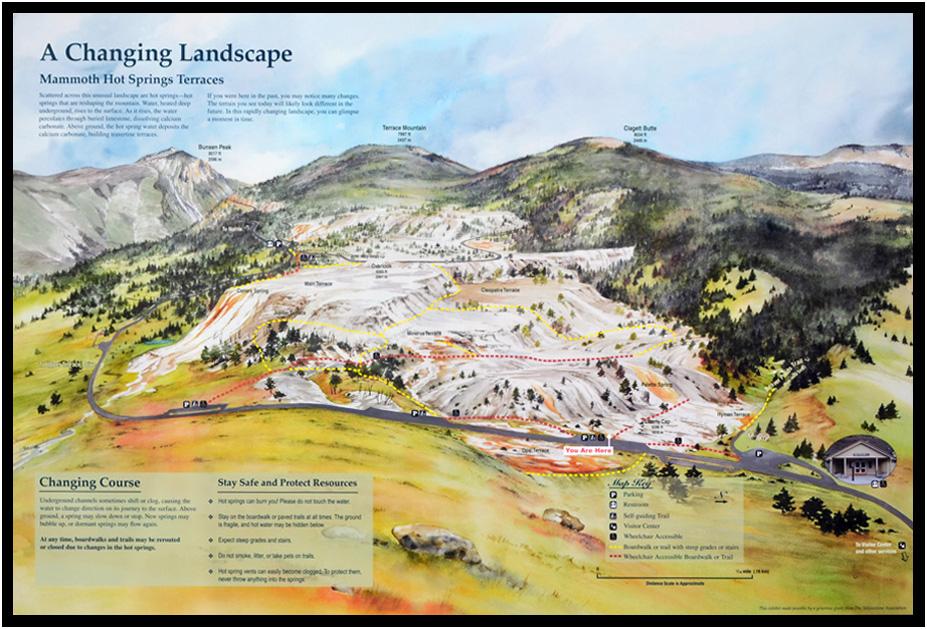 mammoth springs yellowstone national park wyoming 2015